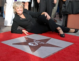 Dr. Judi Hollis at the Walk of Stars!