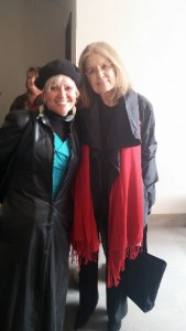 Judi with Gloria Steinem Photo